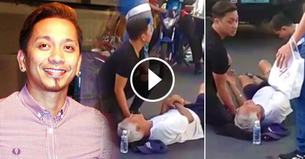 Image result for Jhong Hilario Caught On Cam Rescuing An Old Man Who Was Hit By A Motorcycle In Magallanes Fly-over