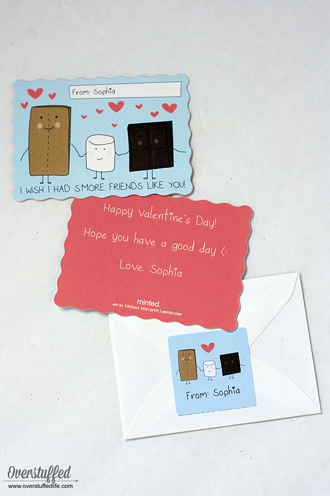 Valentine's Day card | S'more Valentine | S'mores class valentines |  student valentine ideas | I wish I had S'more friends like you | Valentine's Day treat | classroom valentines | Valentine ideas for kids |