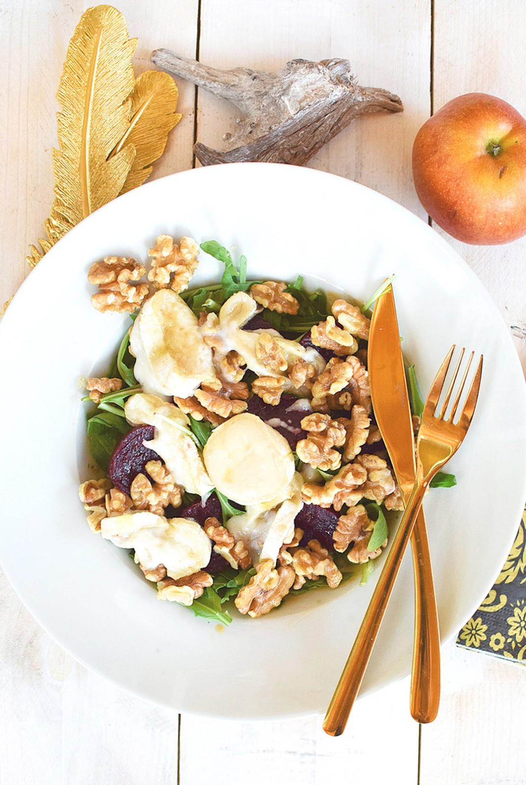 leckerer Rucola Salat, raffiniertes Rezept