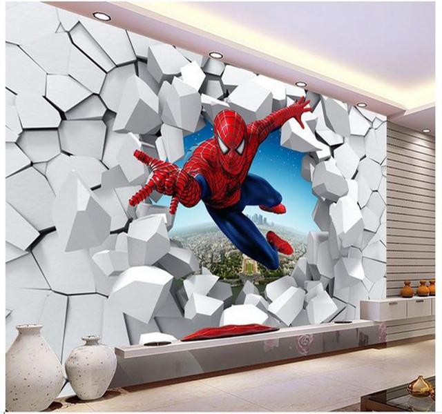 spiderman wall mural 3d marvel wallpaper mural children kids photo spiderman  wallpaper