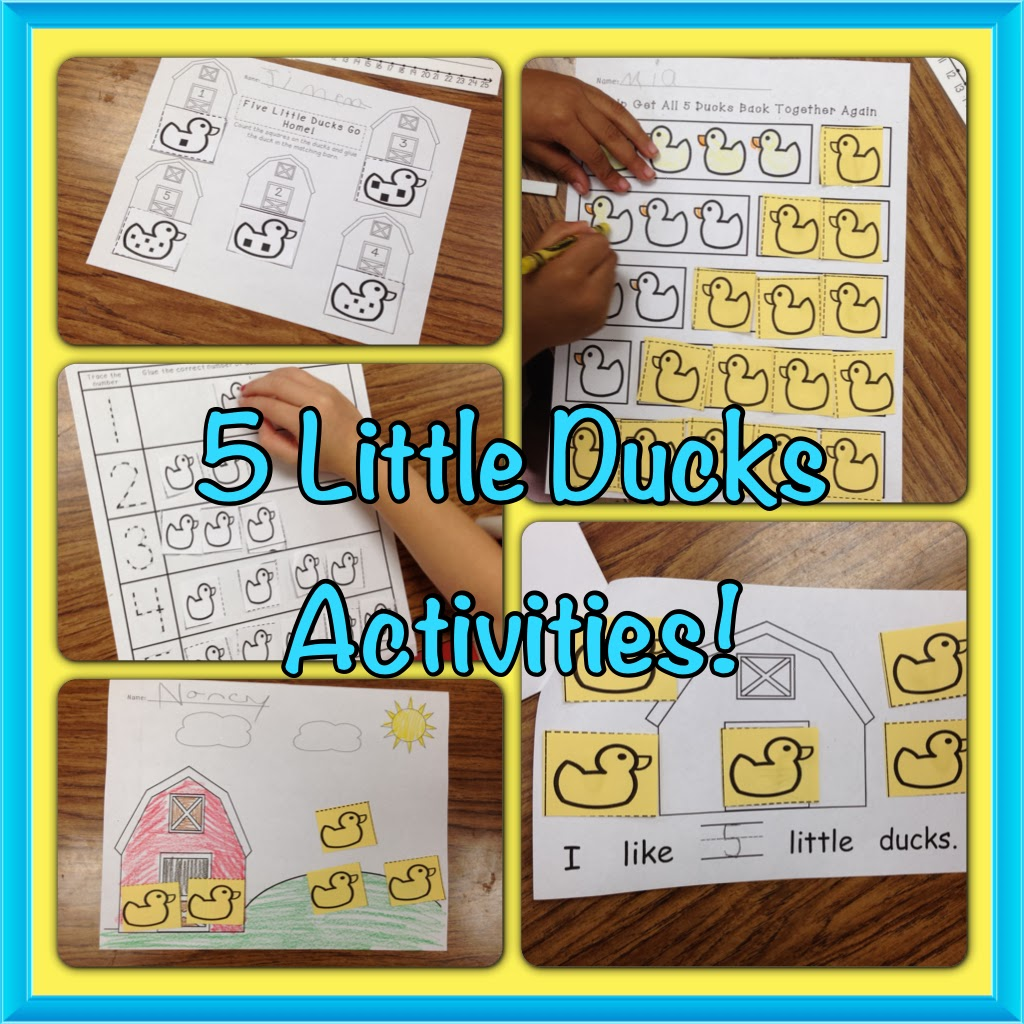 A Spoonful Of Learning Number 5 With Five Little Ducks