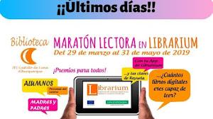 """Últimos días del concurso """"Maratón lectora en Librarium"""""""