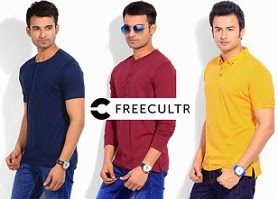 Freeultr T-Shirts & Henly : Flat 70% Off @ Flipkart(Price starts Rs.179)