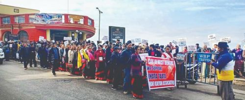 Hill body takes out protest rally against NRC, CAA in Darjeeling