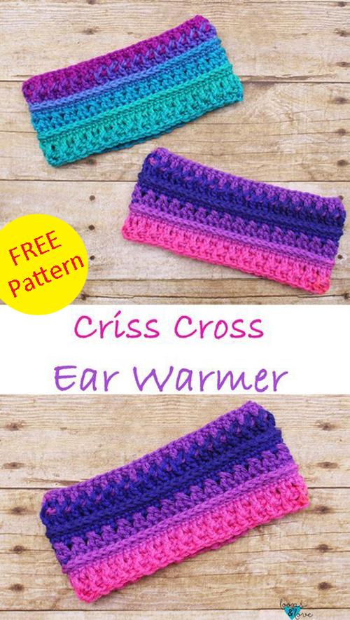 Criss Cross Ear Warmer - Free Pattern