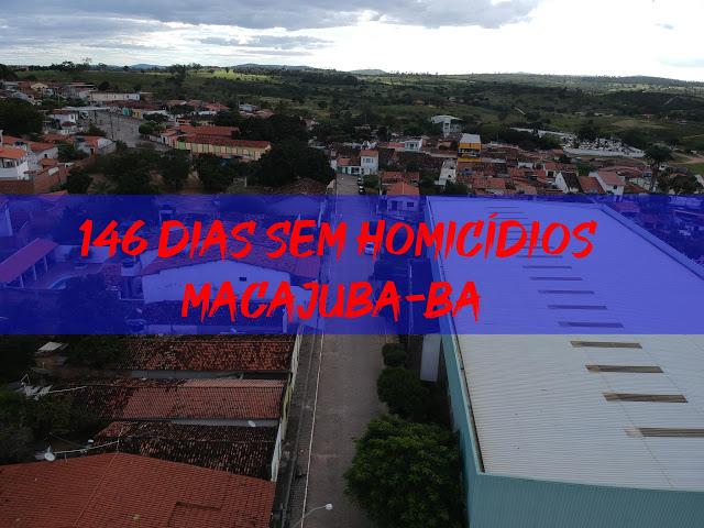 Macajuba completou 146 dias sem homicídios