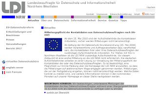 LDI Baustelle Meldung der Kontaktdaten des Datenschutzbeauftragten