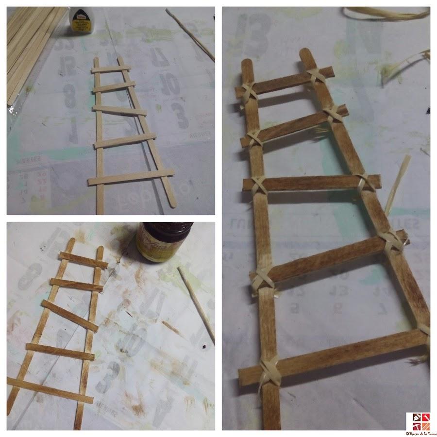 como hacer una escalera manualidades