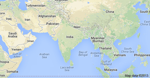 absolute and relative location of india