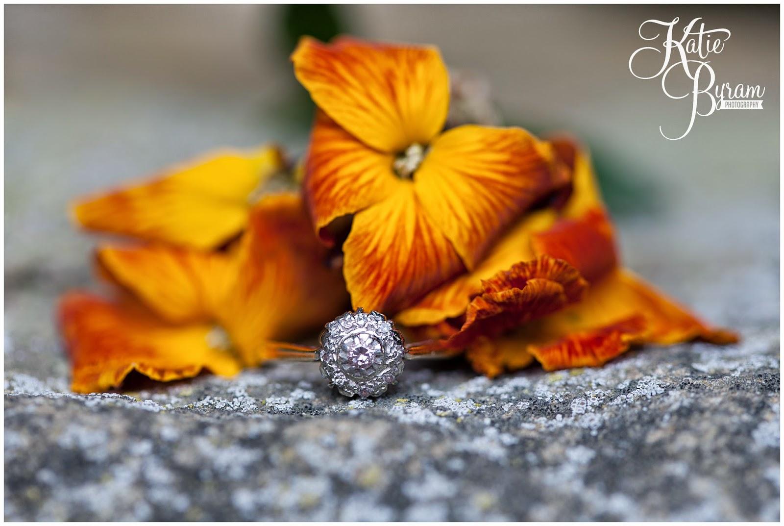engagement ring, danby castle wedding, danby castle pre-wedding shoot, danby north yorkshire, quirky wedding venue yorkshire, wedding venue yorkshire, katie byram photography, countryside wedding venue, danby castle