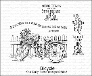 Our Daily Bread designs stamps,Bicycle