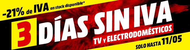 Top 15 ofertas 3 Días sin IVA en TVs y barras de sonido de Media Markt