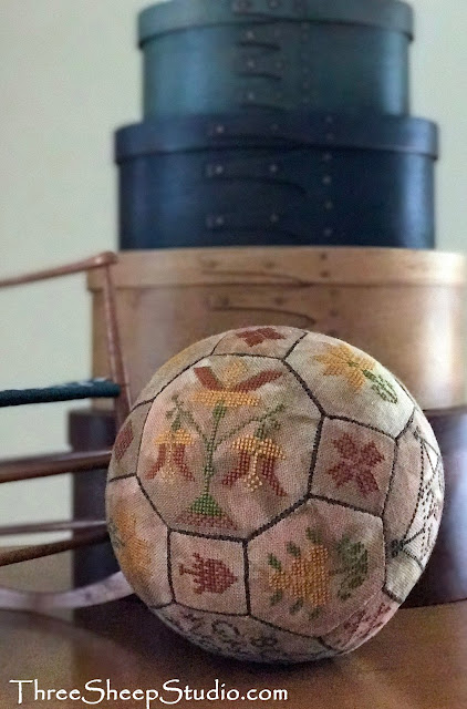 The Making Of A Quaker Ball by Rose Clay at ThreeSheepStudio.com