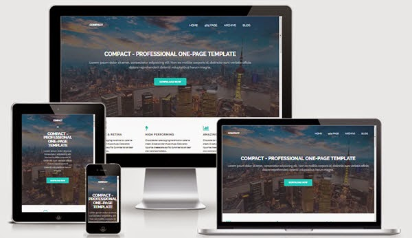 compact one page responsive blogger template saqi templates