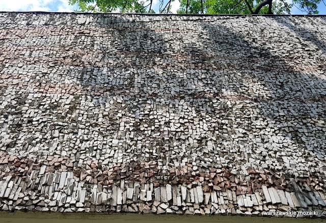 Warszawa Warsaw modernizm pawilon syreni śpiew mozaika warszawskie mozaiki powiśle architektura ściana