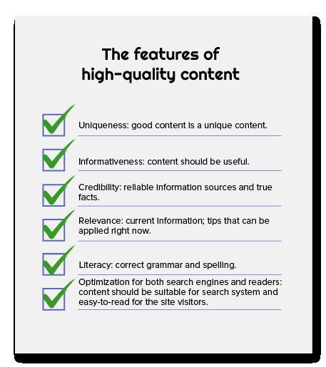 Content Chất lượng cao, được tối ưu hóa