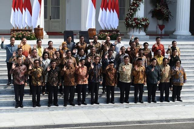 Nama Mentri Kabinet Indonesia Maju 2019-2024