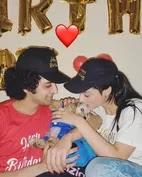 mallika singh with her boyfriend