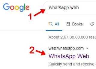 whatsapp web type kar site link par click kare