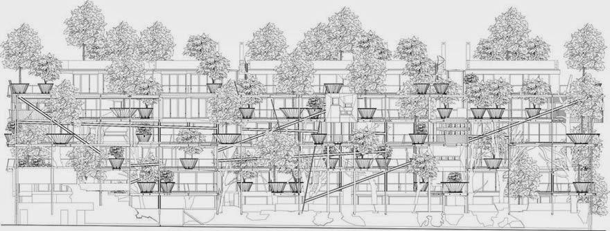 Plano de una construcción verde.