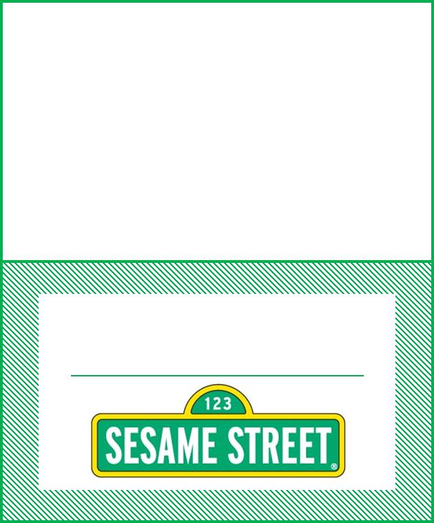 Invitaciones o Etiquetas para Imprimir Gratis de Plaza Sésamo.