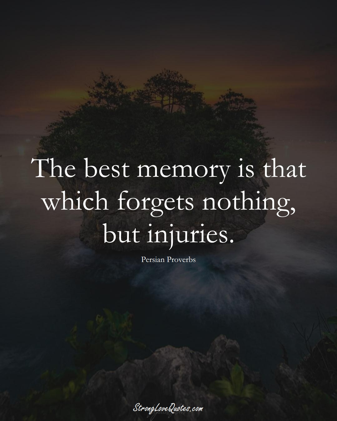 The best memory is that which forgets nothing, but injuries. (Persian Sayings);  #aVarietyofCulturesSayings