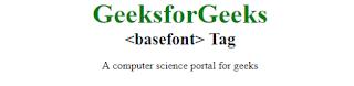 penggunaan tag basefont pada html