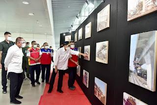 Menhub bersama Gubernur Sumut Tinjau Pembangunan Jalur KA Program Padat Karya