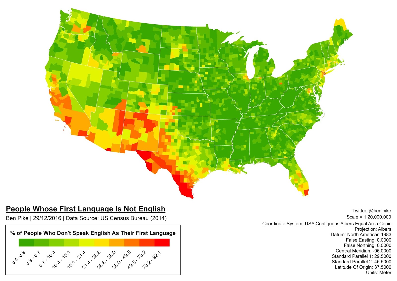 NonEnglish Speakers In The US Vivid Maps - Us language map