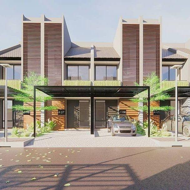 desain rumah depan