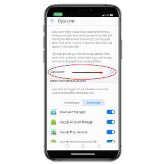 data-saver-in-android