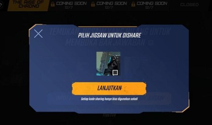 Kode Jigsaw FF