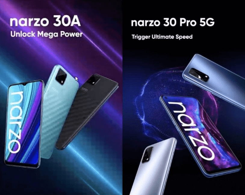 realme narzo 30A with 6,000mAh battery and narzo 30 Pro 5G with 120Hz screen now official