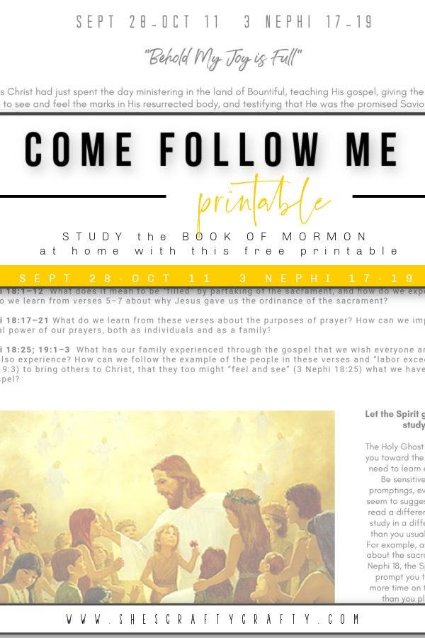 Come Follow Me Home Study Free Printable