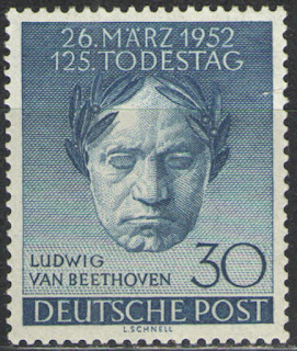 Germany - Deutsche Post Berlin 1952 Beethoven