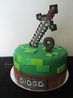 bolo espada Minecraft bragança