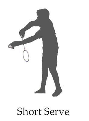 short serve badminton