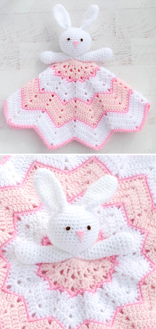 Round Ripple Bunny Lovey - Free Crochet Pattern