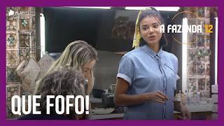 A Fazenda 12 – Cartolouco leva susto – Jakelyne conta experiência romântica – Mirella e Raissa se viram na cozinha
