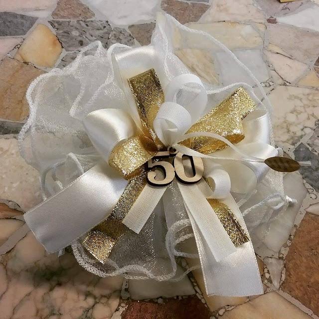 Bombonierestefan bomboniere nozze d 39 oro 50 anni di for Idee regalo per venticinque anni di matrimonio