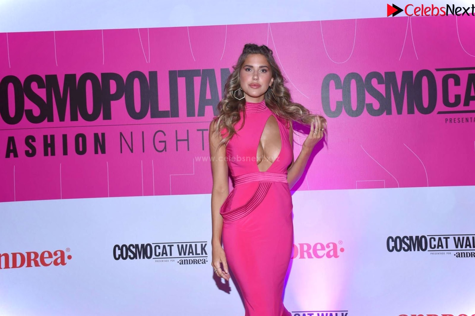 Kara Dell Toro In Stunning Pink Gown at Cosmopolitan Fashion Night in Mexico_CelebSneXt.xyz Exclusive Pics