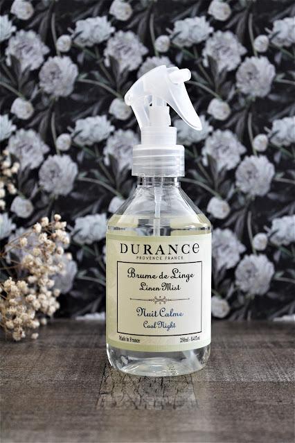 durance nuit calme avis, parfum de linge, parfum pour le linge, parfum pour le linge de maison, parfum pour vêtements, brume de linge, brume d'oreiller, parfum pour dormir mieux, nuit calme durance, brume de linge durance, durance fleur d'oranger, parfum fleur d'oranger