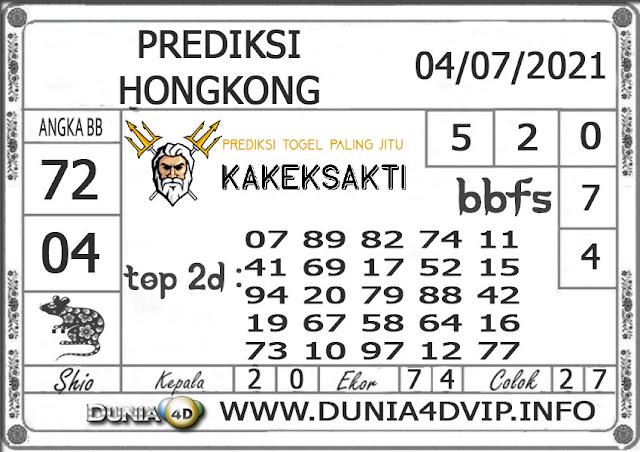 Prediksi Togel HONGKONG DUNIA4D 04 JULI 2021