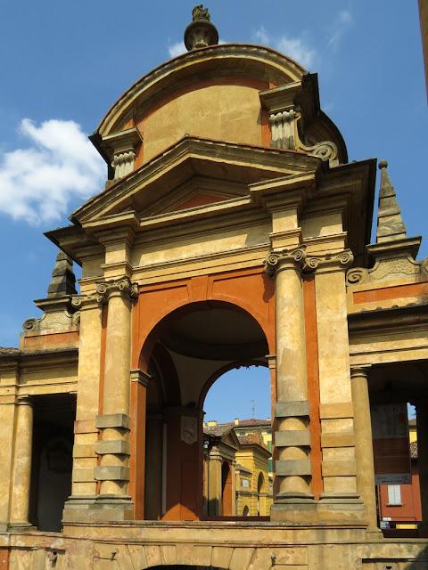 Detail of the Arco del Meloncello, by Carlo Francesco Dotti, Via Saragozza, Bologna