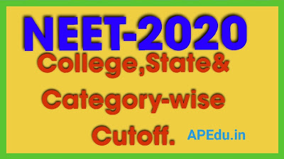 NEET-2020: College-wise, State-wise & Category-wise Cutoff - Counselling College Predictor