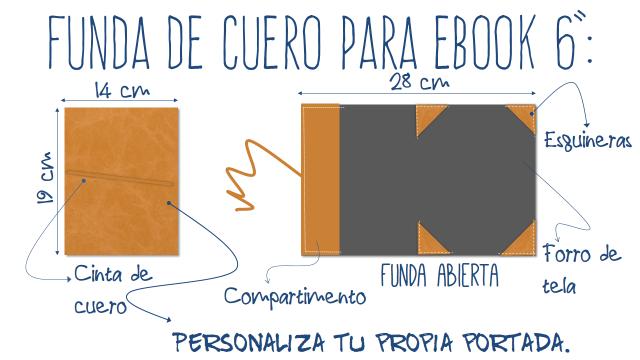 fundas cuero cuadernos agendas ebooks personalizadas iniciales nombres logos monogramas simbolos frases grabados ecológicas artesanales made spain