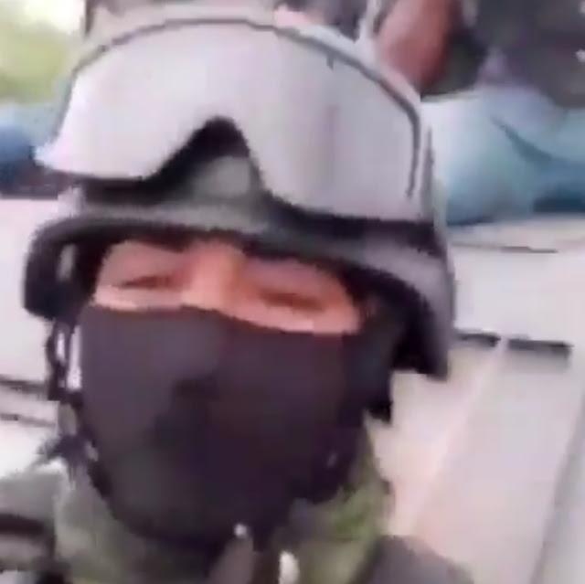 """Ahora video en respuesta  a El Mencho Sicarios de """"Carteles Unidos"""" arriba de un monstruo blindado retan a El Mencho nos pelea la vrga miren como andamos"""