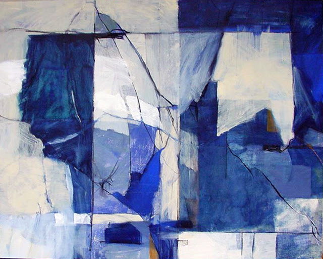Blue Space - Abstract Painting - Rosemary Marchetta