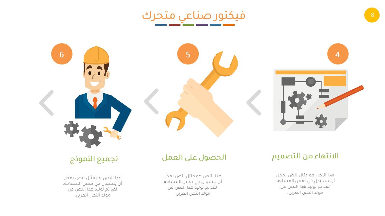 شرائح بوربوينت عربية متحركة للتصميم