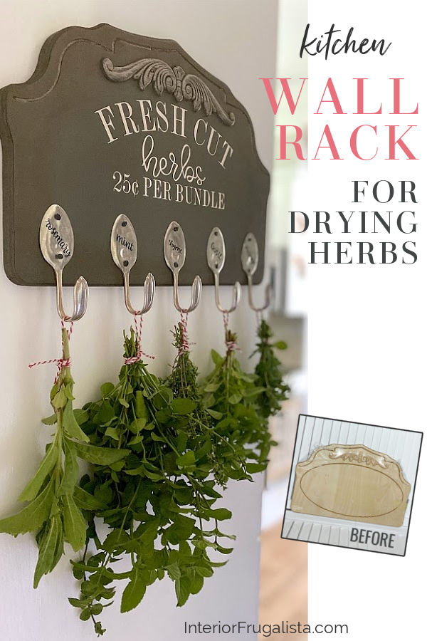 Kitchen Wall Rack For Drying Herbs